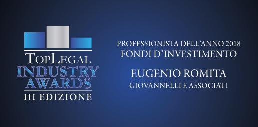 TopLegal - Industry Awards - Eugenio Romita